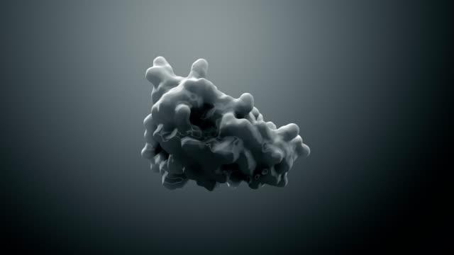 vidéos et rushes de protéine ou enzyme d'illustration 3d - protéine
