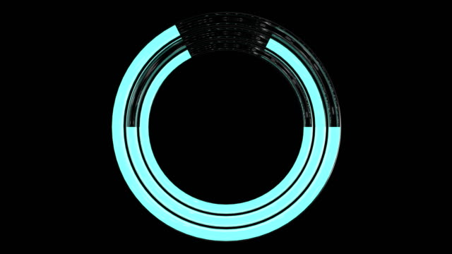 3d looped animation av trendiga lastning neon cirklar. framstegsikon med alfakanal och grön skärm. - logotyp bildbanksvideor och videomaterial från bakom kulisserna