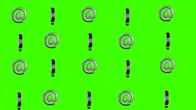 stockvideo's en b-roll-footage met 3d-teken spinnen lus groen scherm - e mail