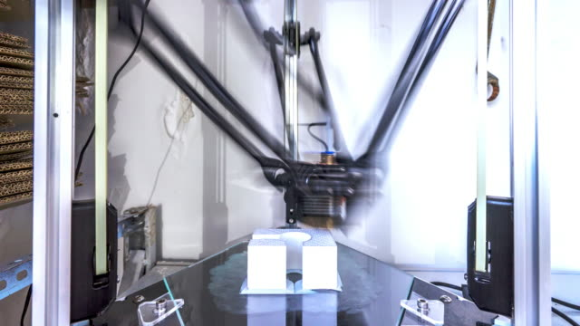 3d printer in room timelapse 4k video