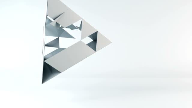 3d pyramid omvandling - pyramidform bildbanksvideor och videomaterial från bakom kulisserna