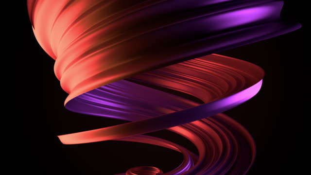 3d render background with reddish and purple twisted element. 3d render background with reddish and purple twisted element. twisted stock videos & royalty-free footage