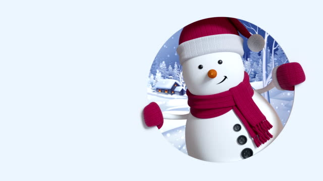 3d render, happy new year, snowman, winter landscape, snowfall, greeting card, isolated on white background 3d render, happy new year, snowman, winter landscape, snowfall, greeting card, isolated on white background snowman stock videos & royalty-free footage