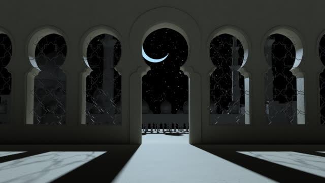 3d göra moské, muslimska tempel. ramadan kareem islamisk helig månad - ramadan kareem bildbanksvideor och videomaterial från bakom kulisserna