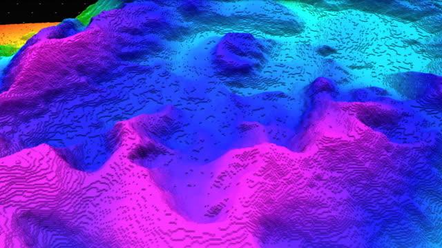 3d render jord bitens, bergen isolerad på mörk bakgrund. - topografi bildbanksvideor och videomaterial från bakom kulisserna