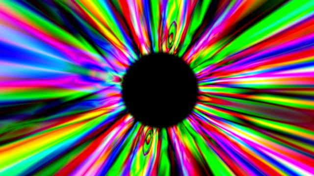 3d render tunnel multicolore psichedelico. sfondo digitale - hippy video stock e b–roll