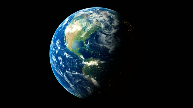 vidéos et rushes de 3d render world spinning seamless loop animation showing planet earth - planete terre