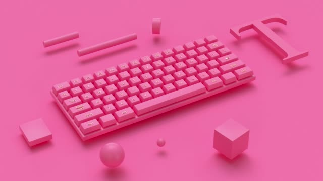 3d rendering abstract motion computer keyboard video