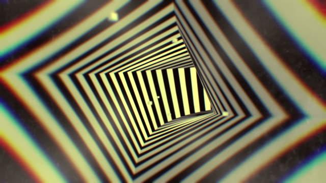 3 d レンダリング アニメーション催眠トンネル シームレスなループ背景 - 図面点の映像素材/bロール