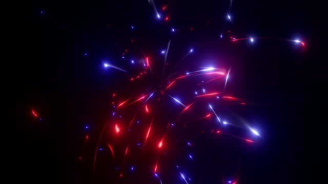3d rendering. disintegrating plasma in red and blue colors. a big explosion in space. electric arc in vacuum. - энергичность стоковые видео и кадры b-roll