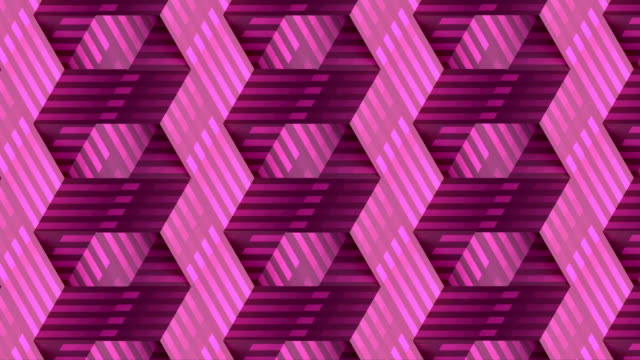 3d rendering line art striped geometric pattern for celebration design. Digital seamless loop animation. Endless abstract background. 4K, Ultra HD resolution