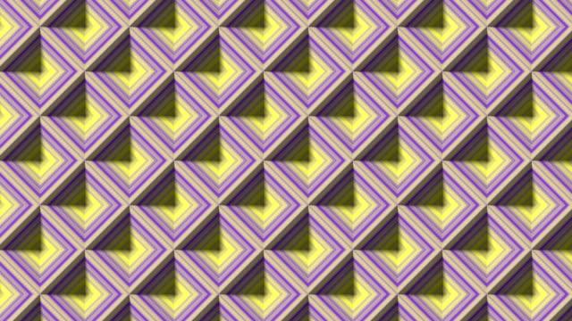 3d rendering line art striped geometric pattern for celebration design. Digital seamless loop animation. 4K, Ultra HD resolution