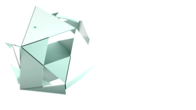 3d rotating polygon transformation video