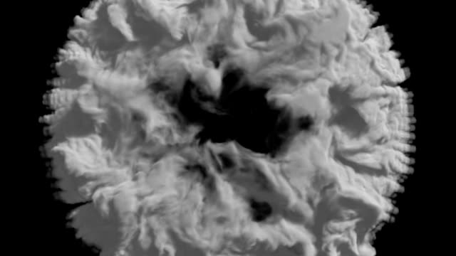 vídeos de stock, filmes e b-roll de explosão de fumaça 3d, efeito shockwave - cúmulo