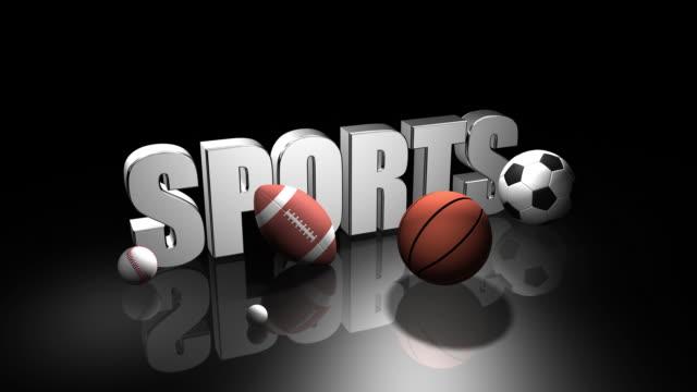 3 d Szene von Sport ball – Video