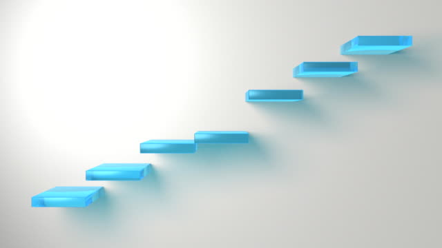 3d Stairs moving to the beat of the steps video