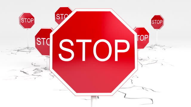 3d stop sign animation 3d stop sign animation.  warning sign stock videos & royalty-free footage