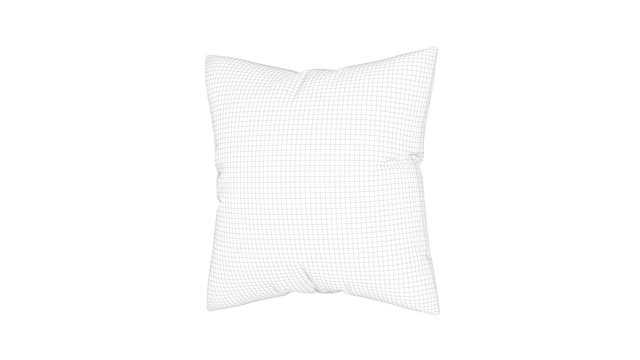3d wire-frame model of pillow - pillow stock videos & royalty-free footage