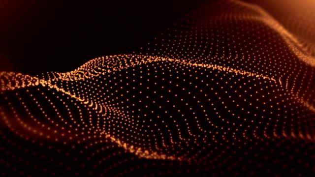 4k soyut - arka plan animasyon döngüsü - turuncu stok videoları ve detay görüntü çekimi