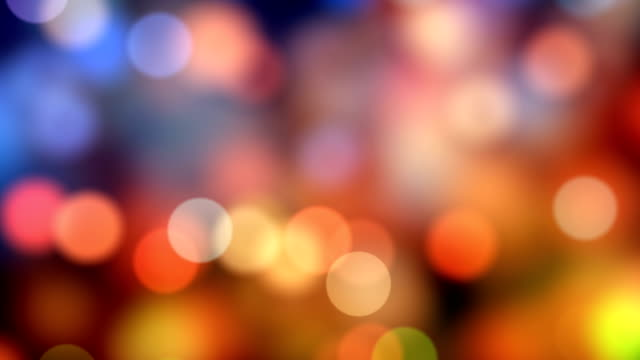 stockvideo's en b-roll-footage met 4k abstracte bokeh achtergrond lus (multi-gekleurde) stockvideo - christmas lights