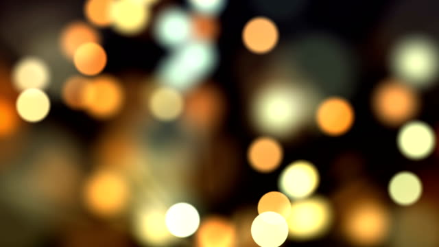 4k abstract bokeh background loop (multi colored) - cena di natale video stock e b–roll