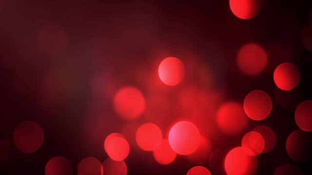 4k Abstract Bokeh Background Loop (Red) video
