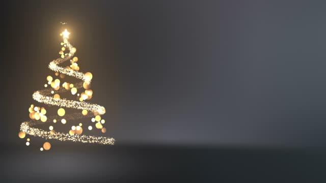4 k abstrakter weihnachtsbaum mit textfreiraum (silber / grau) - loop - weihnachtskarte stock-videos und b-roll-filmmaterial