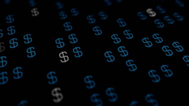 4 k abstrakte dollar hintergrund - dollarsymbol stock-videos und b-roll-filmmaterial