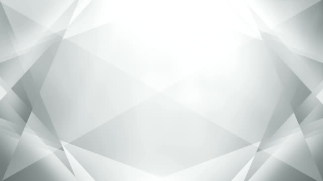 4k Abstract Geometry Background Loop (White / Gray / Silver) Abstract background - perfectly usable for a wide variety of topics. Seamless loop. geometric background stock videos & royalty-free footage
