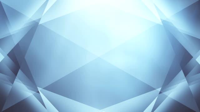 4 k soyut geometri arka plan döngü (parlak mavi) - elmas stok videoları ve detay görüntü çekimi