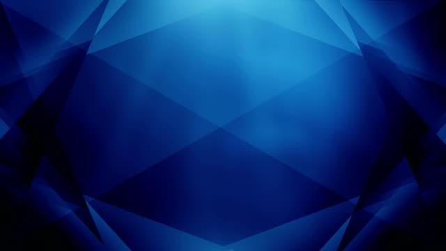4k Abstract Geometry Background Loop (Dark Blue)
