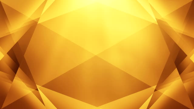 4k Abstract Geometry Background Loop (Golden / Yellow / Orange) video