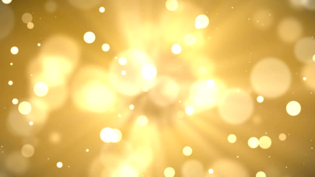 4k Abstract gold bokeh with snow video