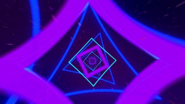 4k 추상 무한 루프 터널 배경 - 배경 초점 스톡 비디오 및 b-롤 화면