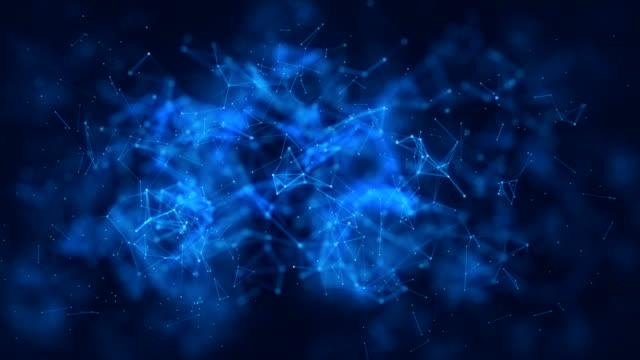 vídeos y material grabado en eventos de stock de fondo geométrico del color 4 k lazo abstracto con líneas y puntos - constelación