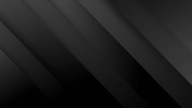 vídeos de stock, filmes e b-roll de 4k fundo de gradiente cinza preto de luxo abstrato com listras diagonais. - padrão repetido
