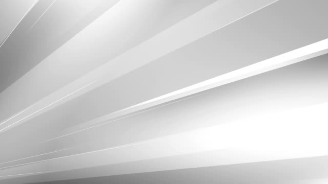 vídeos de stock e filmes b-roll de 4k abstract minimalistic background (white / gray / silver) - loop - background lines