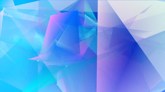 stockvideo's en b-roll-footage met 4 k abstracte driehoek geometrie achtergrond lus - naadloos patroon