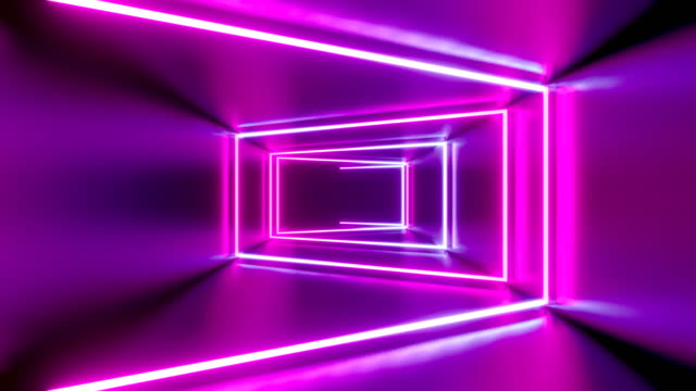 3D 4k abstract tunnel