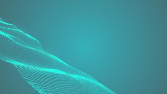 4k abstrakt turkos böjda linjer bakgrund lager video loopable och cirkulär form - turkos blå bildbanksvideor och videomaterial från bakom kulisserna