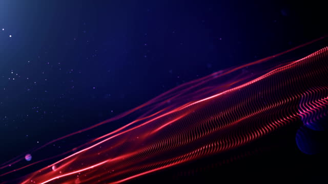 4k Abstract Wave Background Loop (Red, Blue) video