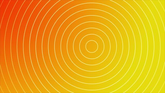 4k abstrakt våg cirkel orange guld bakgrund - tema bildbanksvideor och videomaterial från bakom kulisserna