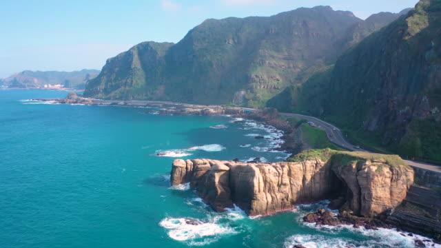 4k Aerial Footage of Nanya Rock, Jioufen,Taiwan. video
