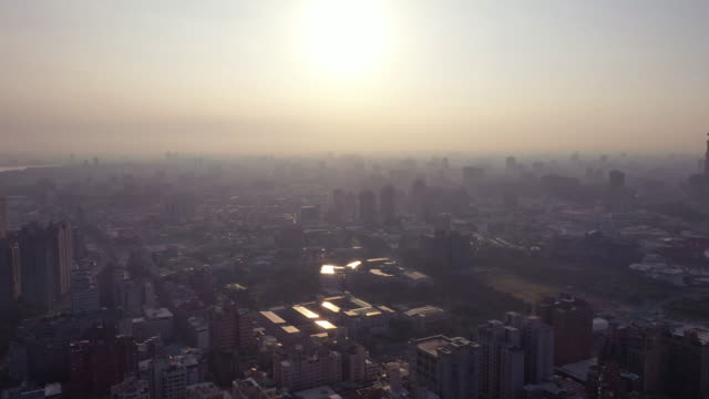 4k Aerial Footage Sunrise of kaohsiung city,Taiwan video