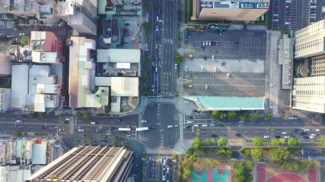 4k Aerial Footage Top view of kaohsiung city,Taiwan video