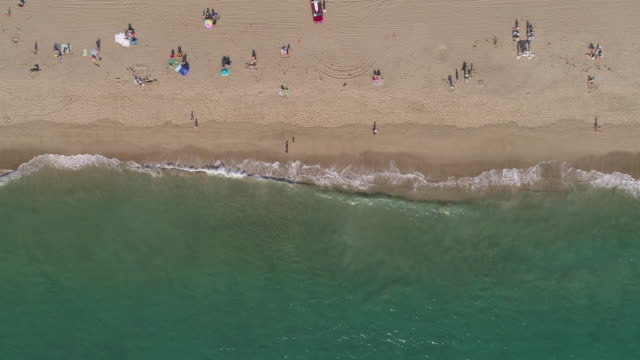 4k aerial of a beach in Malibu, California Flying over Point Dume Beach in Malibu, California. western usa stock videos & royalty-free footage
