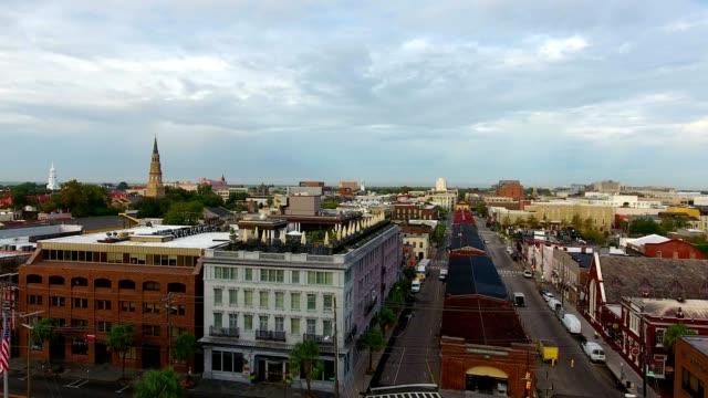 4k Aerial of Charleston South Carolina at Sunrise 4k Aerial of Charleston South Carolina at Sunrise south carolina stock videos & royalty-free footage