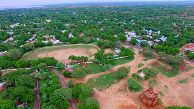 4k aerial pan -  Shwe Zi gone Pagoda video
