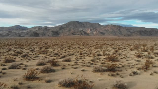 4k Aerial Video - Desert Death Valley Road Side at Desert Death Valley mojave desert stock videos & royalty-free footage