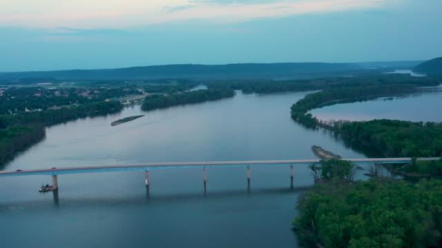 4k Aerial Video of Mississippi River